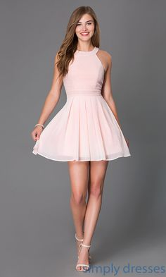 ab8dffcfe04 Blush Pink Sleeveless Short Cocktail Dress