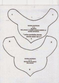 molde 5 / 6   NIEVE VERDE, SOSTIENE A NIEVE EN EL AIRE  (mono de cuadritos)   -    FELTRO MOLDES ARTESANATO EM GERAL: NATAL FELTRO