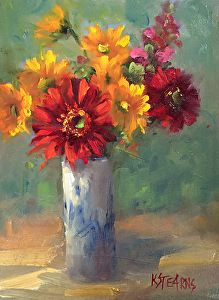 Sun Seekers by Katie Stearns, 8 x 6 Easy Flower Painting, Oil Painting Flowers, Watercolor Flowers, Flower Art, Acrylic Flowers, Abstract Flowers, Acrylic Painting Inspiration, Arte Floral, Art Oil