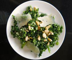 Kale and Pinetip Salad   www.acanadianfoodie.com