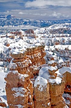 Bryce Canyon in snow, Utah