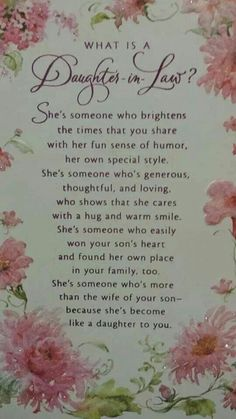 Best Birthday Quotes : Daughter in law she is the perfect addition to our family. greetings Best Birthday Quotes : Daughter in law she is the perfect addition to our family. Daughter In Law Quotes, Birthday Daughter In Law, Mother In Law Quotes, Birthday Greetings For Daughter, Birthday Wishes For Mother, Birthday Quotes For Daughter, Birthday Wishes Quotes, Happy Birthday Fun, Birthday Cards
