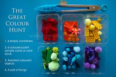 A fun way to do color matching with toys and objects you already have around the house.