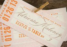 letterpressed tickets