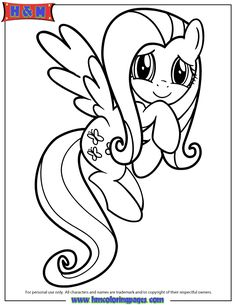 Printable My Little Pony Friendship Is Magic Fluttershy Coloring