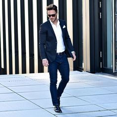 How to wear a white shirt for men. #MensFashion