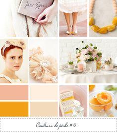 peach wedding ideas board