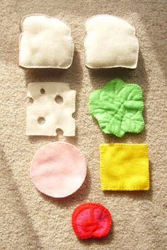 felt food tutorial - sandwich, Swiss cheese, lettuce