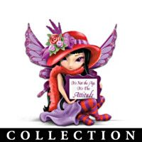 Jasmine Becket-Griffith's Spirit Maidens Figurine Collection | View Details Fabulous Hatterific Fairies Figurine Collection Fairy Statues, Fairy Figurines, Bradford Exchange, Laughing And Crying, Love Fairy, Heart Health, Magical Creatures, Big Eyes, Blythe Dolls