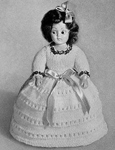 Link to download FREE knitting pattern for Kathy Doll knit pattern published in Dolls, Doreen Knitting #104.