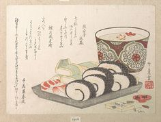 Ryūryūkyo Shinsai (Japanese, active ca. 1799–1823). Sushi (Vinegared Fish and Rice) Food, Edo period (1615–1868). The Metropolitan Museum of Art, New York. H. O. Havemeyer Collection, Bequest of Mrs. H. O. Havemeyer, 1929 (JP1916)
