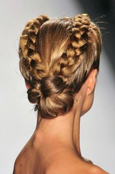 Celtic beauty hairstyle.
