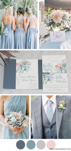 70 ideas wedding colors blue gray blush pink #wedding