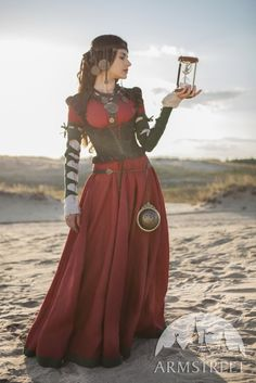 "Steampunk Dress with Corset and Chemise Costume ""The Alchemist's daughter"" steampunk clothing"