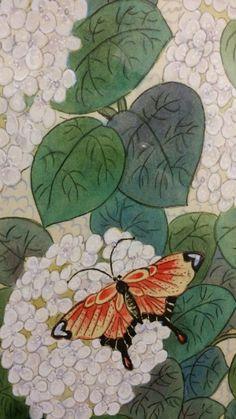 제6회 대한민국 전통채색화 공모대전 입상작과 특별 초대작가전 : 네이버 블로그 Cartography, Folk Art, Pattern Design, Beast, Plant Leaves, Embroidery, Drawings, Plants, Painting