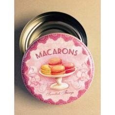 PLECHOVÁ DÓZA - MACARONS Macarons, Macaroons