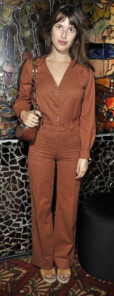 Jeanne Damas arrives at the Chloé Club in Paris, September 2014. #chloeGIRLS
