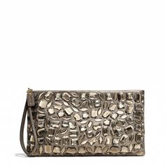 The Madison Zip Clutch in Jeweled Leather from Coach