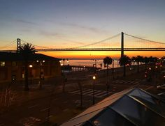 Hotel Vitale offers the ideal luxury boutique hotel for your San Francisco vacation along the Embarcadero, featuring personalized concierge service, a spa and more. San Francisco Vacation, Sunrise, Bridge, Spa, California, Luxury, Places, Nature, Travel