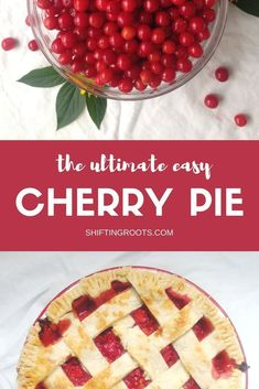 Each year I eagerly await cherry season so I can make my annual sour cherry pie.  It's such an easy recipe and is so worth the work of pitting the cherries.  This version uses sour cherries found in colder climates. #sourcherry #sourcherries #pie #pierecipe #cherrypie #sourcherrypie