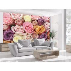Jardin des roses dans votre maison grâce au papier peint Artgeist #fpapierspeints #papierpeintroses #papierspeintsfleurs #roses #wallpapers #artgeist #salon #homedecor #home #décorations #intérieurs #décomurale #rose