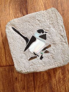 Your place to buy and sell all things handmade Brick Art, Glass Brick, Concrete Pavers, Garden Stones, Amazing Art, Stained Glass, Gardening, Hands, Bird