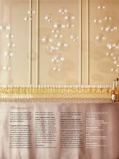 bubbly inspired New Year's eve party