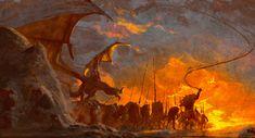 ArtStation - War ( LOTR ) , Anato Finnstark Fantasy Images, Fantasy Rpg, Fantasy Artwork, Fig Tree Plant, Medieval, Character And Setting, Religious Paintings, Dragon Artwork, Fantasy Inspiration