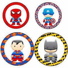 toppers para festa super heróis