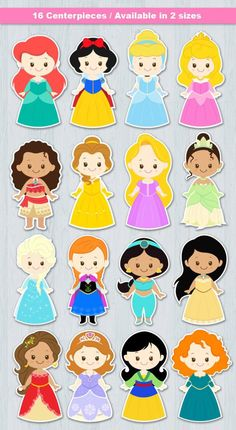 Disney Princess Centerpieces, Disney Princess Invitations, Disney Princess Party, Cute Princess, Disney Princess Babies, Disney Princess Cookies, Cinderella Party, Disney Princess Characters, Disney Princess Colors