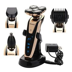 70f6d02a60 BEMAGSA Electric Shaver 5D Headed Flex Wet and Dry Waterproof Electric  Razor Rotary Shaver for Men