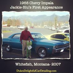 """In 2007 we inherited """"Jackie-Blu"""" this 1968 Chevy Impala from """"Bonnie,"""" an amazing christian woman and friend! This would be the first appearance of this car to the church I pastored in Montana. Driving with """"precious Juliana"""" made it a """"hit!"""" #cardetailinginVenturacounty #mobilecardetailinginThousandOaks #MobilecarwashinThousandOaks #mobilecardetailingWestlake #mobilecardetailing #DonDukes #autodetailingThousandOaks #interiorcardetailing #carcleaning #cardetailingserviceThousand Oaks…"""