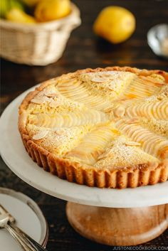 traditional French-style Pear Almond Tart or Pear Frangipane Tart is a perfect A traditional French-style Pear Almond Tart or Pear Frangipane Tart is a perfect. -A traditional French-style Pear Almond Tart or Pear Frangipane Tart is a perfect. Pear Dessert Recipes, Pear Recipes, Sweet Recipes, Almond Recipes, Curry Recipes, Pumpkin Recipes, Fall Recipes, Dinner Recipes, Crack Crackers