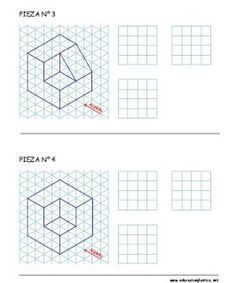 Croquizado Isometric Sketch, Isometric Grid, Isometric Design, Easy Drawing Tutorial, Isometric Drawing Exercises, Lotus Flower Art, Architecture Drawing Sketchbooks, Perspective Sketch, Interesting Drawings