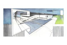 KRob Architecture Competition - Architectural illustration, delineation and drawing competition. Architects and architecture students submit architectural sketches for architecture competition. Revit Architecture, Architecture Student, Architecture Models, Drawing Architecture, Autocad Civil, Drawing Competition, Landscape Sketch, 3d Max, Watercolor And Ink