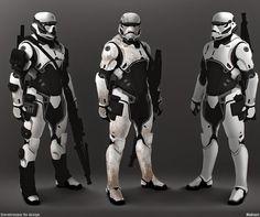 Galaxy Fantasy: Star wars, Fan art, Stormtropers de elite y rediseño de Darth Vader