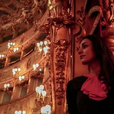 A beautiful night in Fenice theater, in Venice.    #luxury #gold #opera #theater #Vibrant #red