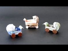 Money Origami Instructions: Money Baby Buggy (Dominik Meißner) Source by kaylynshaw Instruções Origami, Origami Videos, Origami Wedding, Money Origami, Oragami, Origami Gifts, Origami Design, Origami Instructions, Origami Tutorial