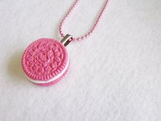 Pink Oreo Necklace by CapricaAccessories on Etsy, $15.00
