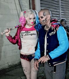 El diablo and Harley quinn behind the scenes