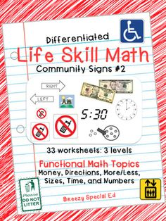 Worksheets Maths Life Skill Worksheets On Number System katie omalley life skills and on pinterest