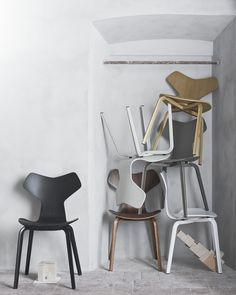 Grand Prix Chair: a new version  by #fritzhansen #arnejacobsen #danishdesign #scandinaviandesign #designicon #design #interior #interiordesign #scandinavian via facing north with gracia