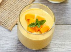 These mango mousse cups are light and airy and not overly sweet, letting the fresh mango puree really shine through. We didn't have a comic up last week because we were too busy at San Diego Comic Con. We should be back to our regular schedule this wee Mango Dessert Recipes, Mango Recipes, Köstliche Desserts, Asian Desserts, Sweet Recipes, Easy Recipes, Shot Glass Desserts, Juicer Recipes, Cheap Recipes