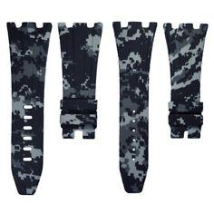 Graphite Digital Camouflage Rubber Audemars Piguet 42mm Strap – Horus Straps