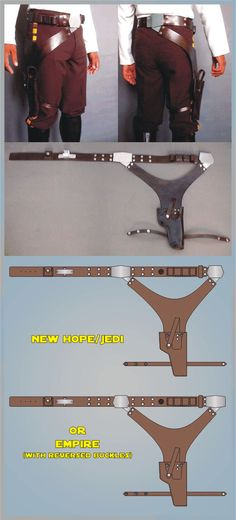 Detailed drawings of Han Solo belt if you're doing a Han Solo costume....I will cosplay Han eventually