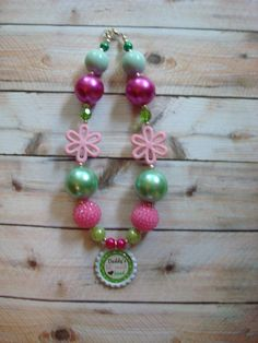Girls Chunky Bubblegum Necklace Daddy's Lil' Ranch Hand on Etsy, $15.00