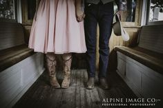 Something a little different for your wedding shoes! Photography by Alpine Image Company.