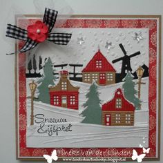 Tineke's kaartenhoekje: Sneeuw & ijspret Christmas Wood Crafts, 3d Christmas, Christmas Scrapbook, Christmas Cards To Make, Xmas Cards, Holiday Cards, Christmas Decorations, 3d Cards, Paper Cards