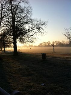 A cold morning on Clapham Common