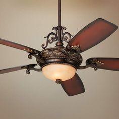 "56"" Casa Esperanza Teak Finish Blades LED Ceiling Fan - #59E40 | Lamps Plus"